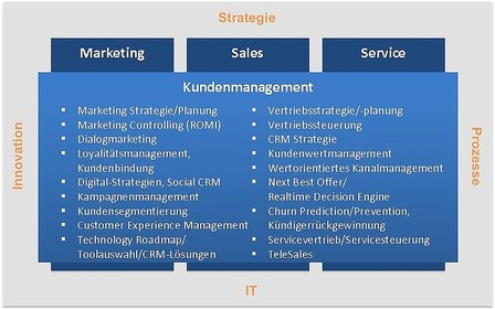 Kundenmanagement in den Bereichen Marketing, Sales & Service